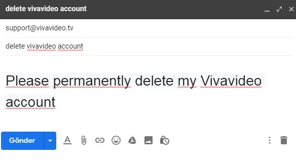how to delete vivavideo account