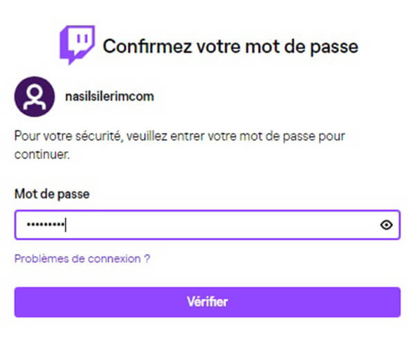 suppression de compte twitch