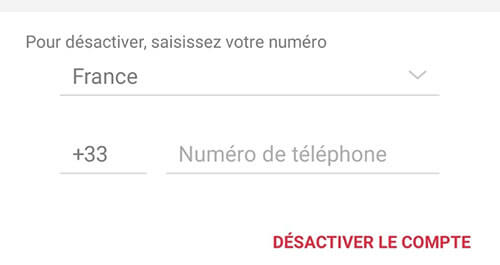 suppression de compte viber