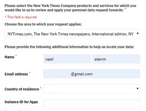 supprimer le compte ny times