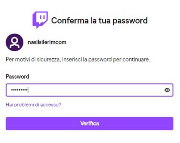 twitch collegamento per la cancellazione dell'account