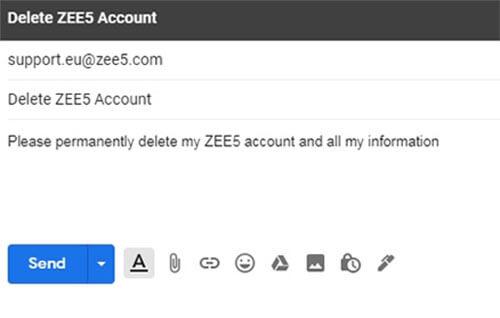 zee5 hesabı nasıl silinir